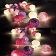 Гирлянда Клубки ниток (фиолетовая)