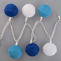 Гирлянда Клубки ниток (синяя)