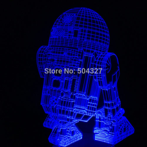 3D Светильник R2-D2