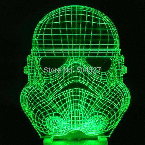 3D Светильник Шлем Штурмовика