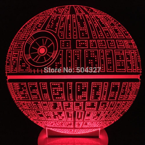 3D Светильник Звезда смерти