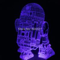 3D Светильник R2-D2 Star Wars