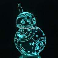 3D Светильник Дроид BB-8
