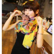 Шифоновый шарф с цветком
