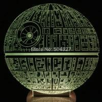 3D Светильник Звезда смерти Star Wars