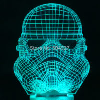 3D Светильник Шлем Штурмовика Star Wars