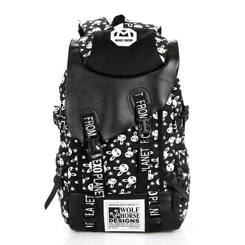 Рюкзак с кроликами (черный)