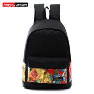 Рюкзак черный с цветным рисунком