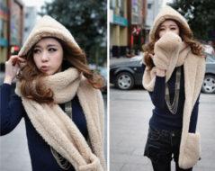 Комплект 3 в 1 (шапка шарф варежки)