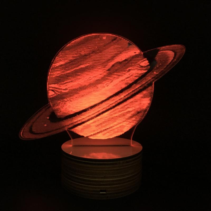 3D светильник Led Lamp (ночник с 3d-эффектом)