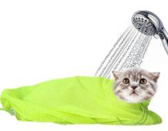 Сумка-сетка для купания кошек