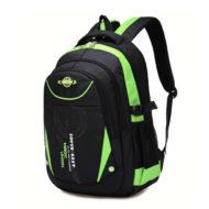 Рюкзак школьный (черный с зеленым)