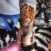 Временная татуировка Лиса