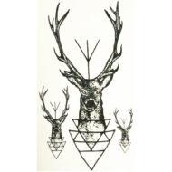 Временная татуировка Олень