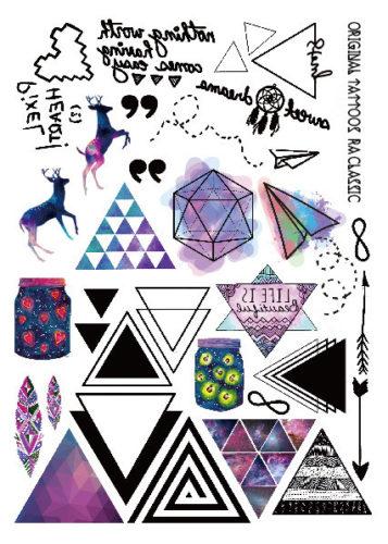 Набор временных татуировок Треугольники