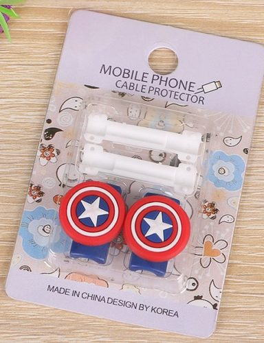 Защита кабеля телефона Капитан Америка