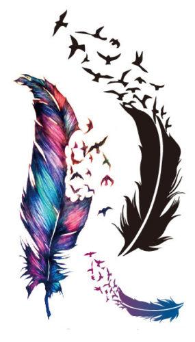 Временная татуировка Перья