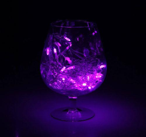 Гирлянда Игла комнатная, 8 режимов, фиолетовая