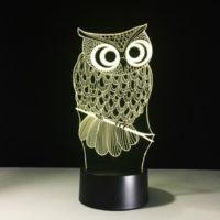 3D Светильник Сова