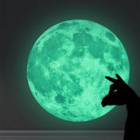 Светящаяся наклейка Луна