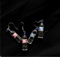 Серьги Бутылочки воды