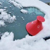 Скребок-воронка для очистки стекла автомобиля
