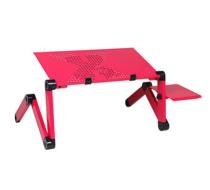 Столик для ноутбука с кулером К5 (розовый)
